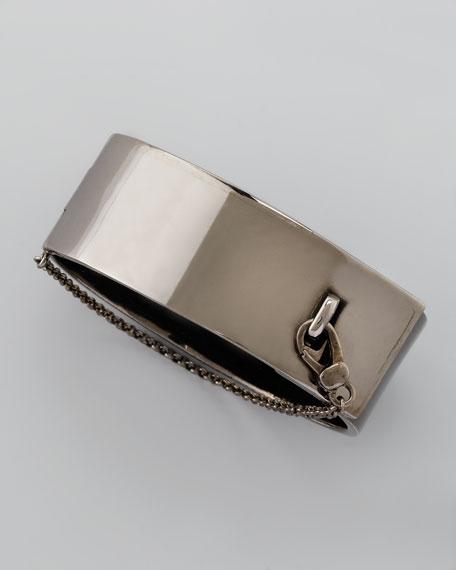 Safety Chain Cuff, Gunmetal
