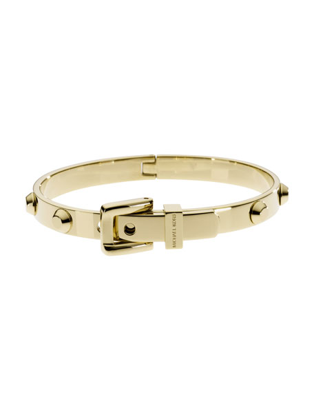 Astor Buckle Bangle, Golden