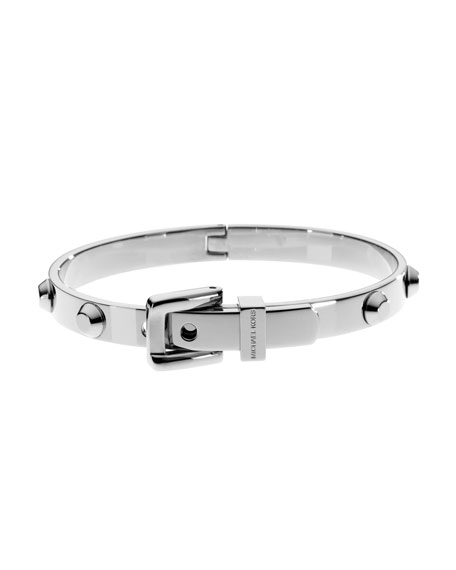 Astor Buckle Bangle, Silver-Color