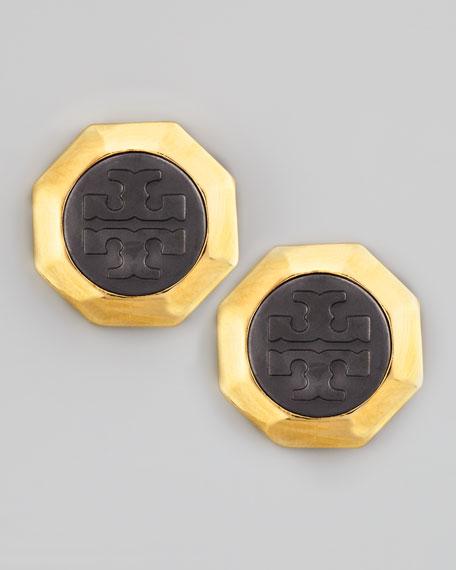 Daren Logo-Stud Earrings
