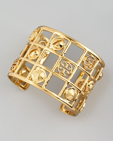 Labyrinth Frame Cuff, Golden