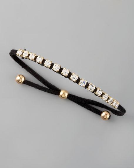 Fabric Rhinestone Bracelet
