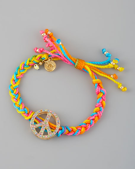 Braided Peace-Sign Bracelet