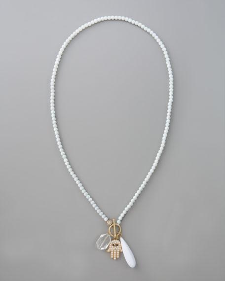 Beaded Hamsa Pendant Necklace