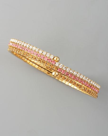Coiled Crystal Bracelet