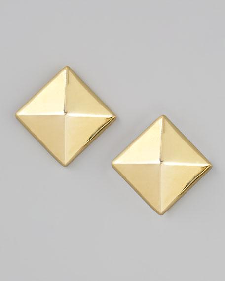 Pyramid Stud Earrings