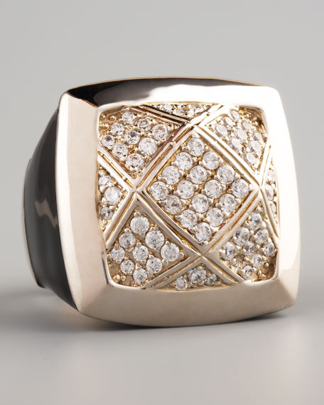 Quilted Statement Ring