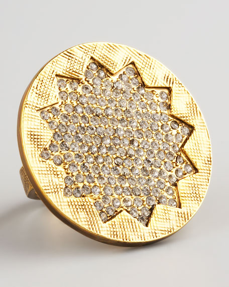 Pave Sunburst Ring