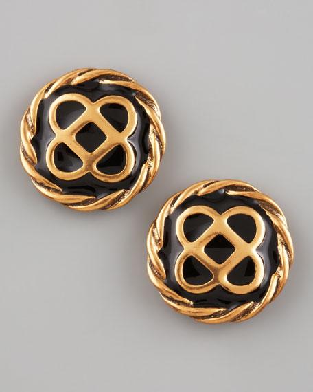 Mosaico Stud Earrings, Black