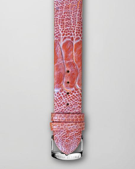Pink Ostrich Bracelet Strap, 20mm
