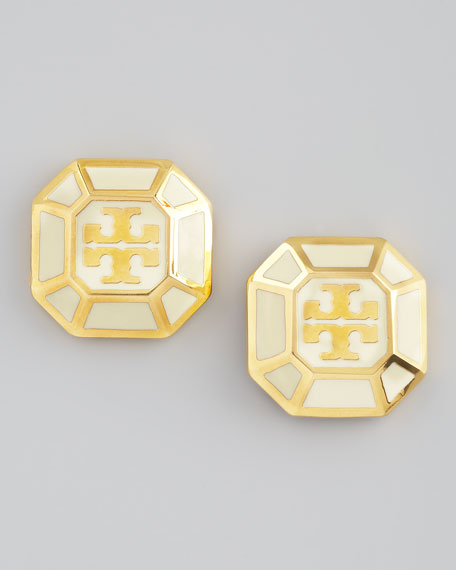 Rylan Logo Earrings, Ivory