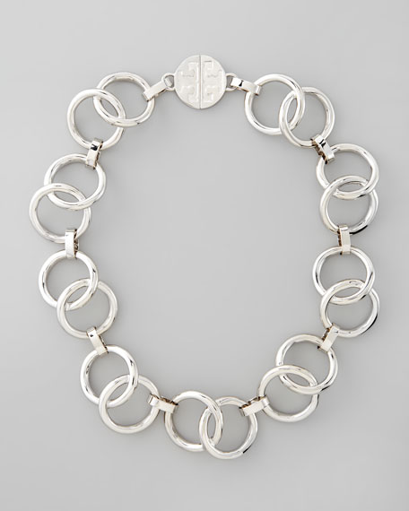 Rings Necklace, Silvertone