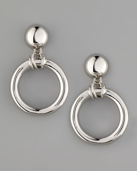 Doorknocker Earrings, Silvertone
