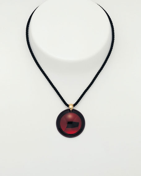 Small Eclipse Pendant, Ruby