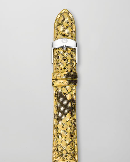 16mm Printed Leather Watch Strap