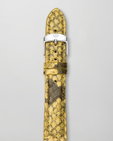 20mm Printed Leather Watch Strap
