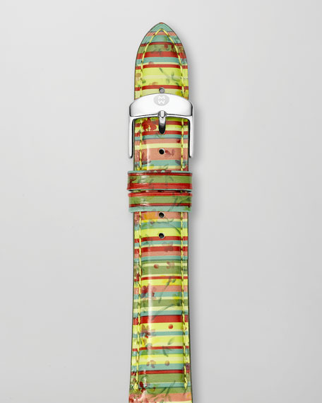 16mm Striped Watch Strap, Tropical