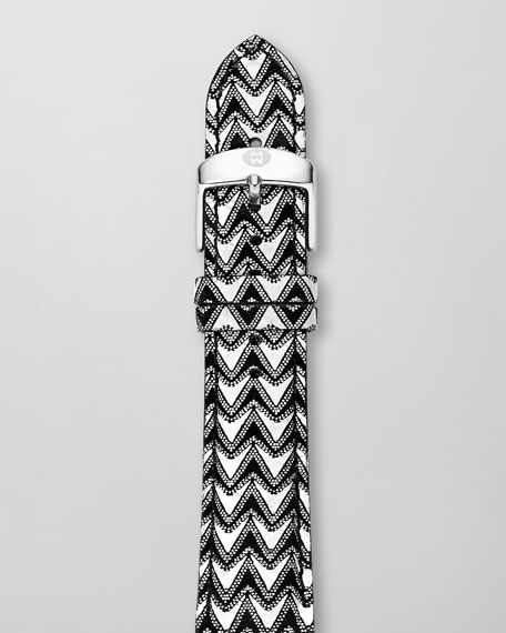 20mm Chevron Leather Watch Strap