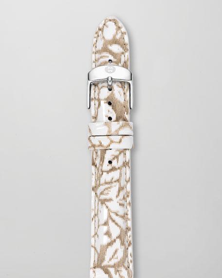18mm Textured Leather Watch Strap, Neutral