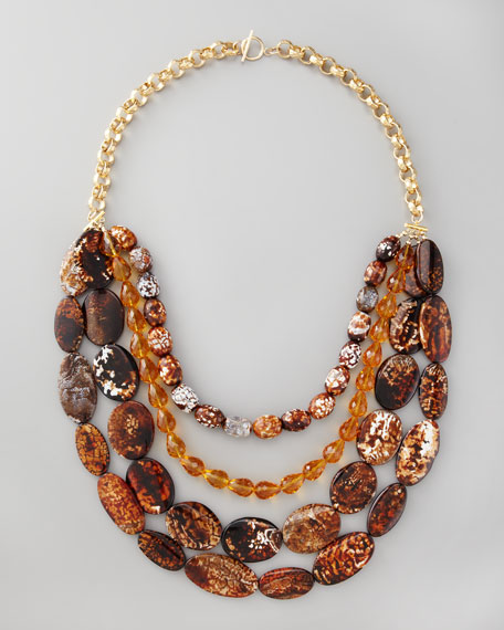 Four-Strand Multi-Stone Necklace