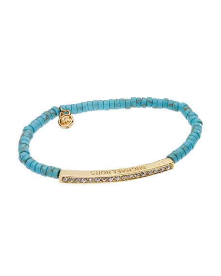 Stretch Bracelet with Pave Bar Detail