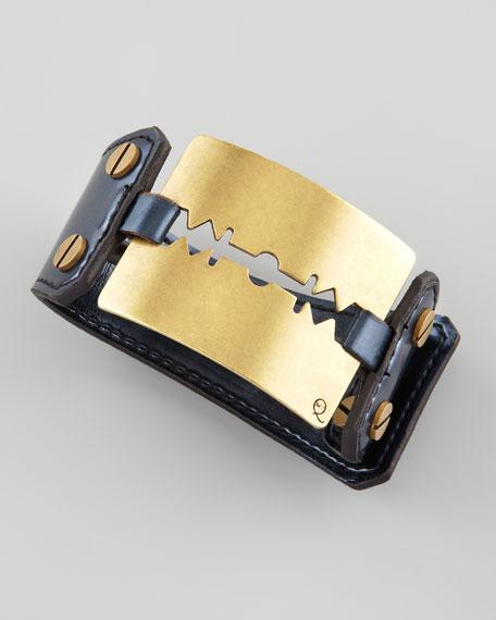 Large Razor-Blade Bracelet, Black