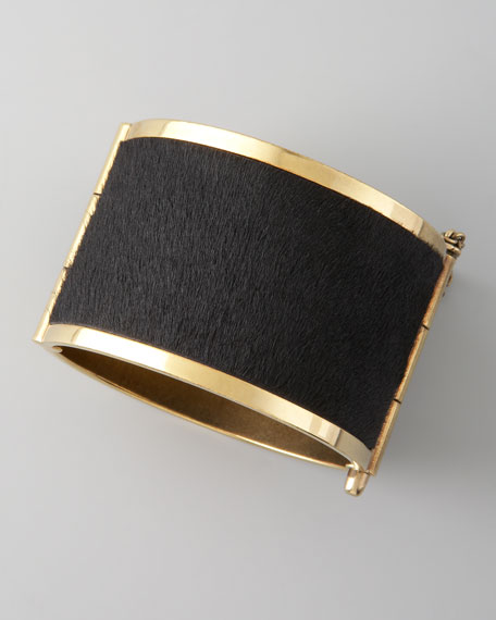 Pony Hair Cuff, Black