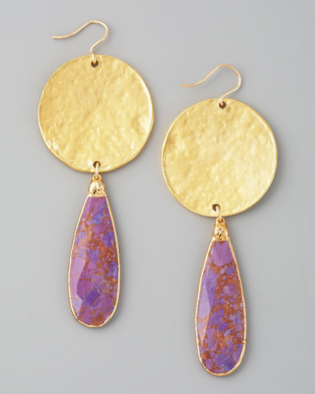 Purple Turquoise Drop Earrings