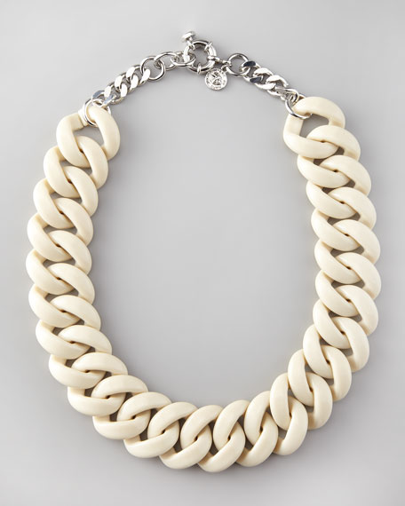 Candy Turnlock Necklace, Beige