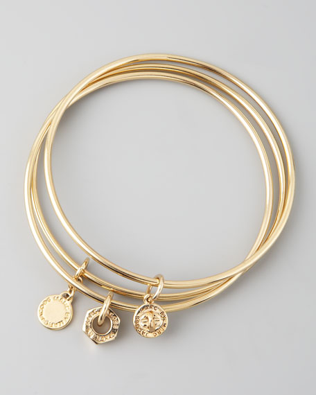 Classic Icons Bangle Set, Golden