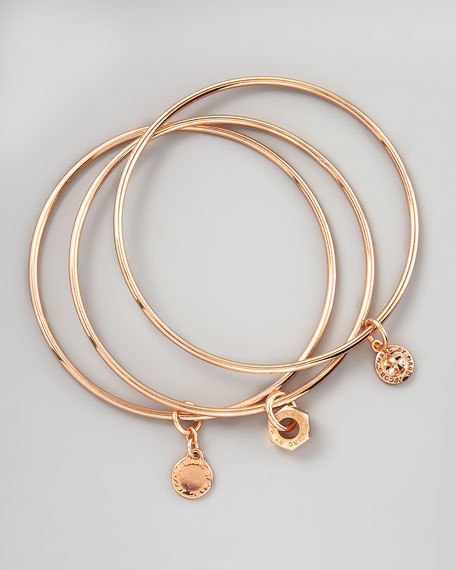 Classic Icons Bangle Set, Rose Golden