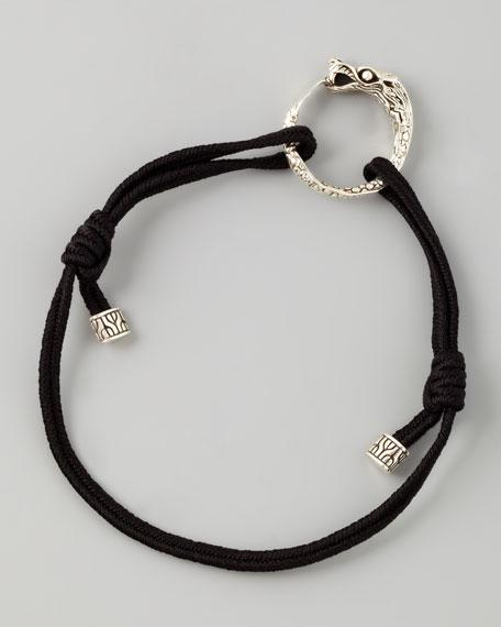 Naga Cord Bracelet, Black