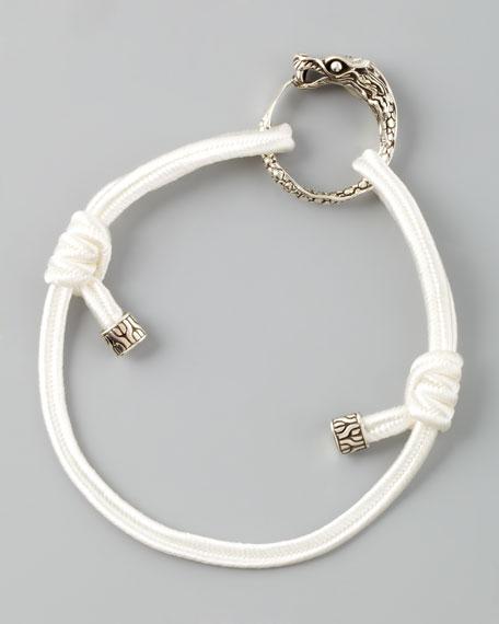Naga Cord Bracelet, White