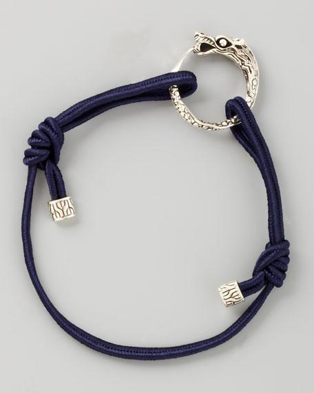 Naga Cord Bracelet, Dark Blue
