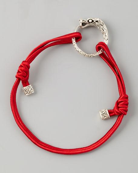 Naga Cord Bracelet, Red