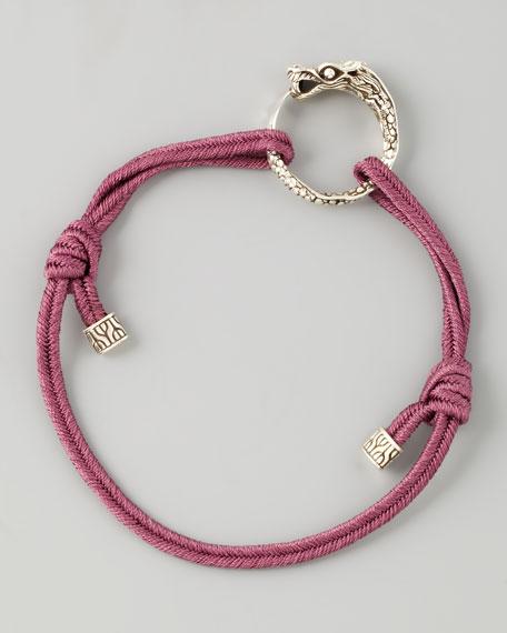 Naga Cord Bracelet, Purple