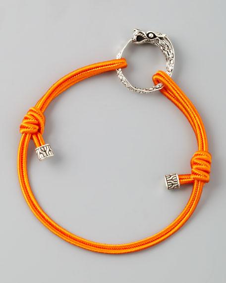 Naga Cord Bracelet, Orange