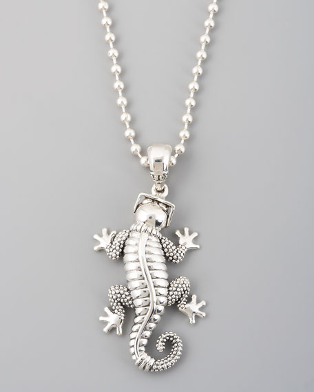 Rare Wonders Gecko Pendant Necklace