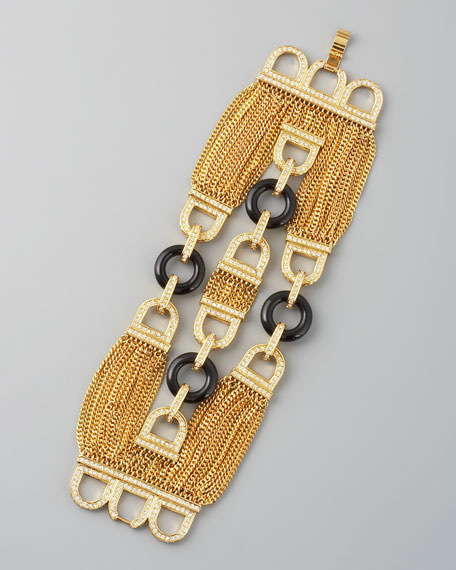 Three-Row Chain Bracelet