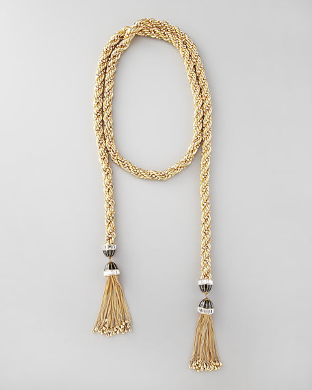 "Long Tassel-End Necklace, 54""L"