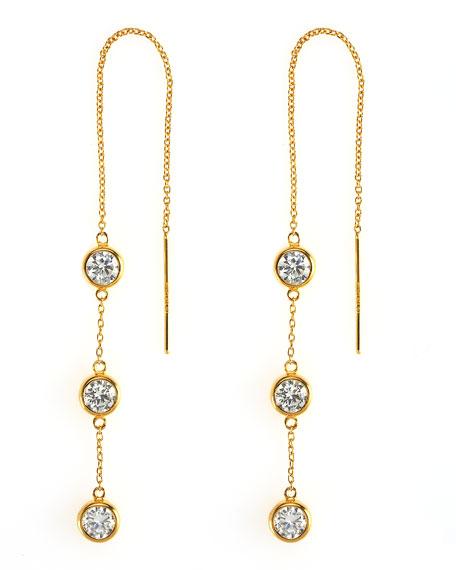 Triple-Drop Thread Earrings