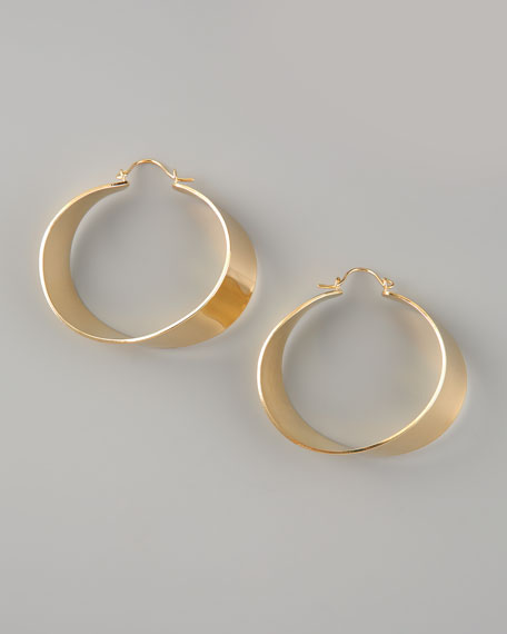 Americana Classic Ginny Hoop Earrings, Yellow Gold
