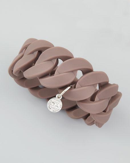 Wide Rubber Katie Turnlock Bracelet, Iron