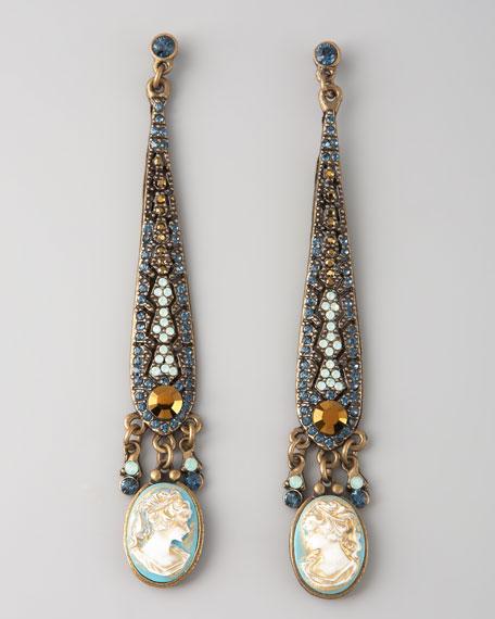 Cameo Linear Earrings