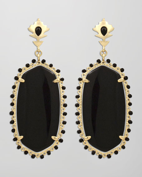 Dalton Earrings, Black Onyx