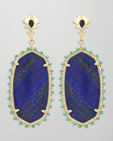 Dalton Earrings, Blue