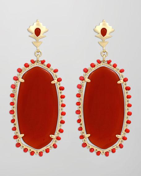 Dalton Earrings, Red Onyx