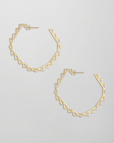 Harley Hoop Earrings, Gold