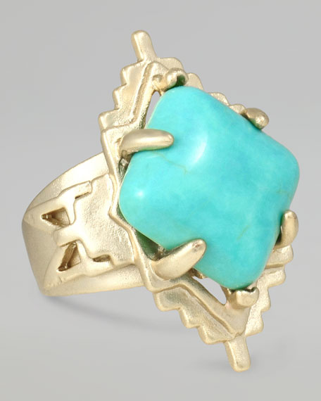 Tribal Ring, Turquoise