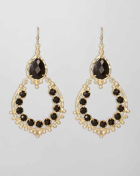 Gaia Earrings, Black
